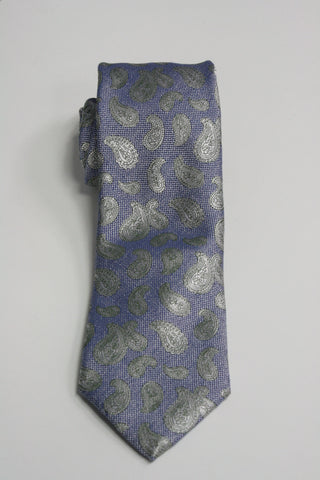 Blue With Green Paisley Tie