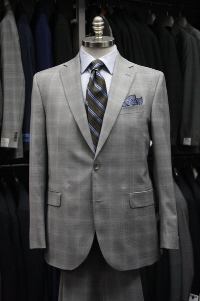 Light Grey Plaid Suit