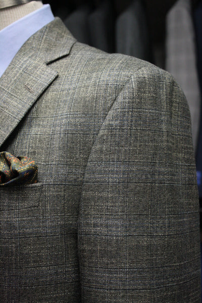 Brass Plaid Sport Jacket