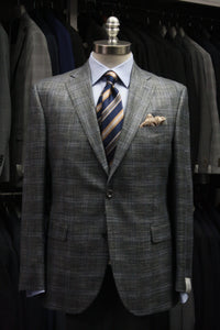 Grey Plaid Sport Jacket