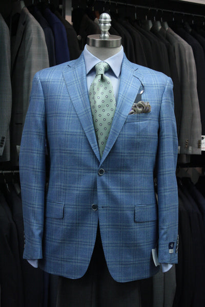 Blue Plaid Sport Jacket