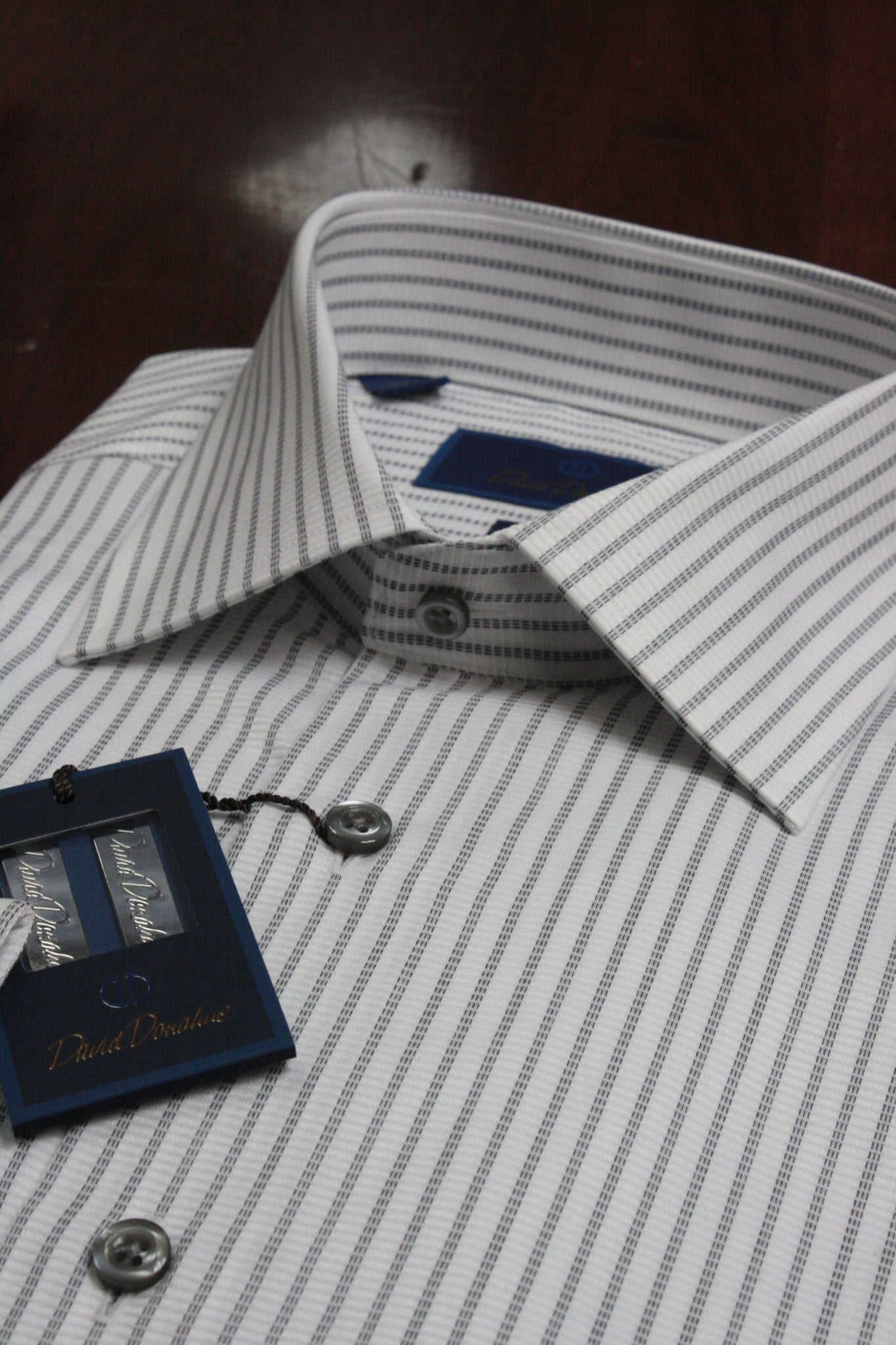 Grey Triple Stripe Dress Shirt
