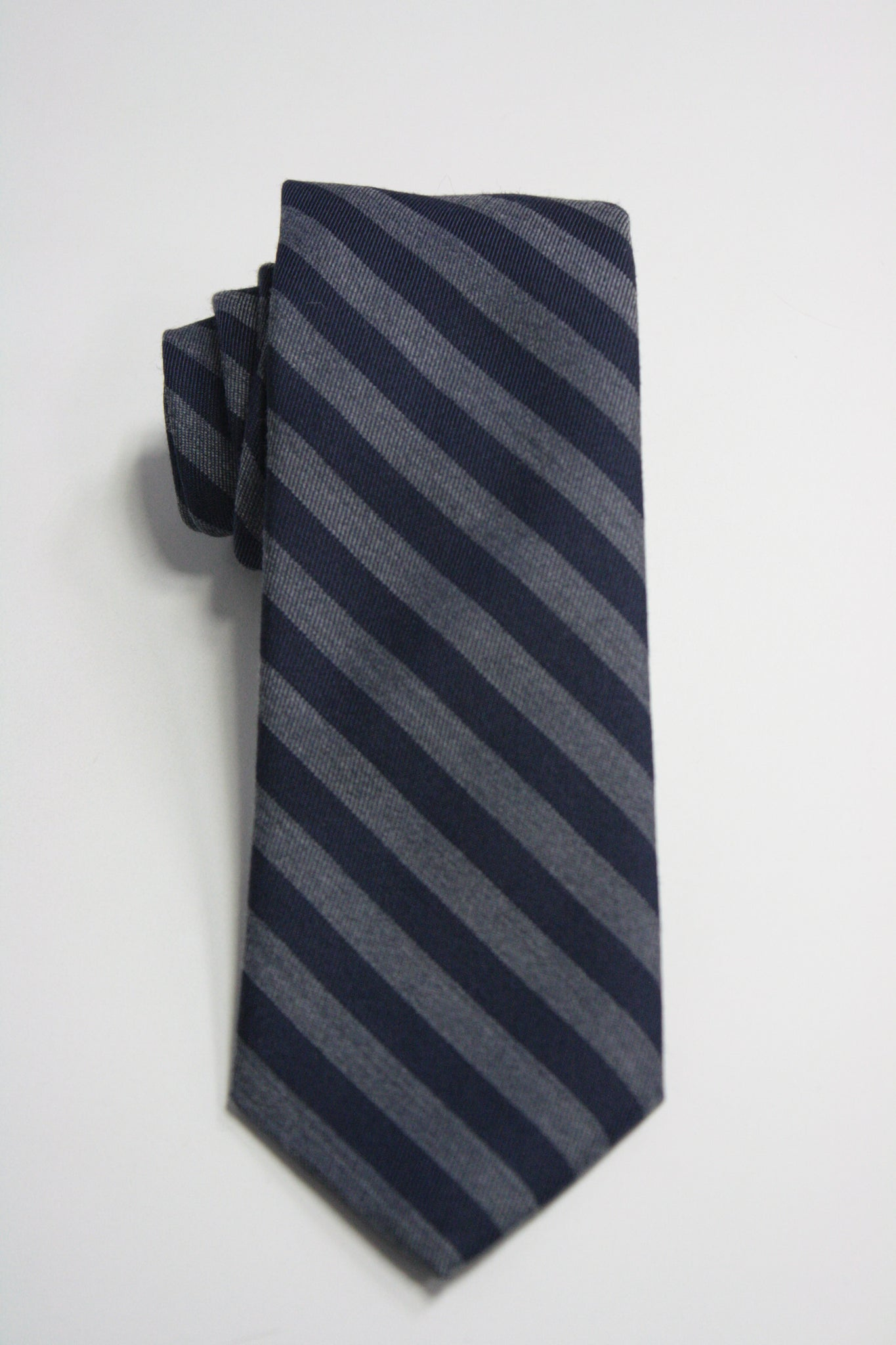 Navy and Grey Candy Stripe Tie