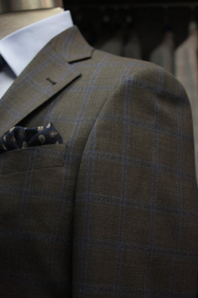 Brown Plaid Sport Jacket