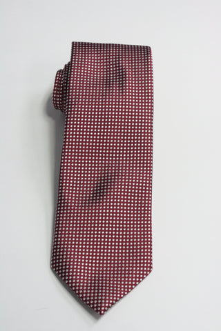 Dark Red Mini-Dot Tie