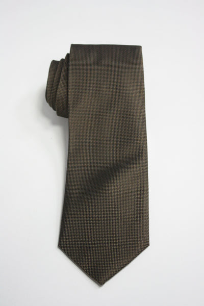 Olive Drab Textured Solid Tie