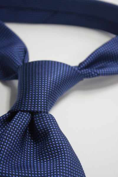 Royal Blue Miniature Squares Tie