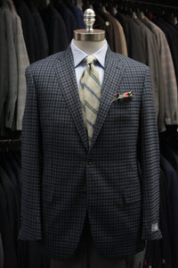 Blue, Olive, and Navy Gun Club Check Sport Jacket