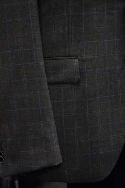 Taupe Plaid Sport Jacket