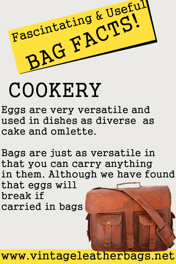 Vintage leather bag facts