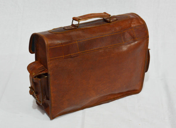 vintage leather laptop briefcase for men