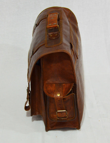 vintage leather laptop bag messenger bag