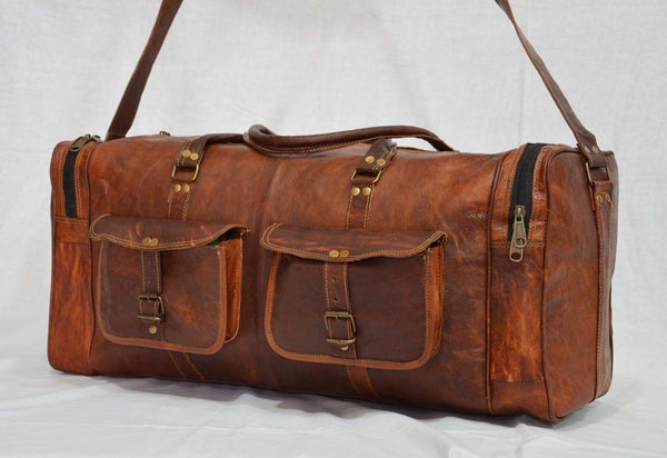 vintage leather travel bags for  women