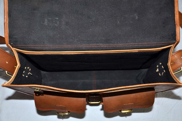 mens handmade  real  leather laptop  bag messenger bag
