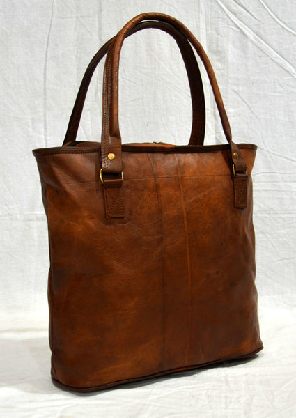 Vintage leather hand bag and tote bag for ladies
