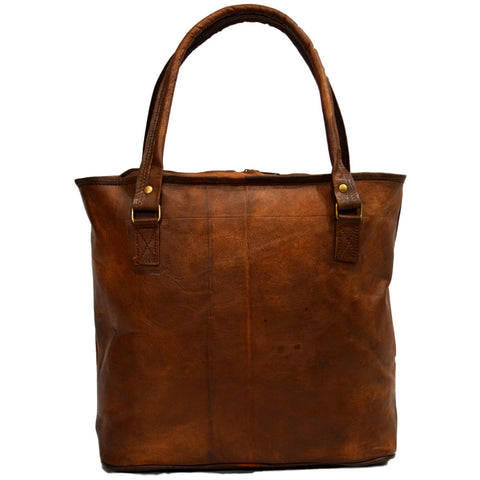 Ladies leather tote bag handmade