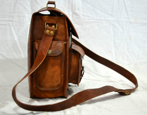 vintage leather mens satchel