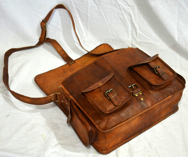 handmade vintage leather  satchel