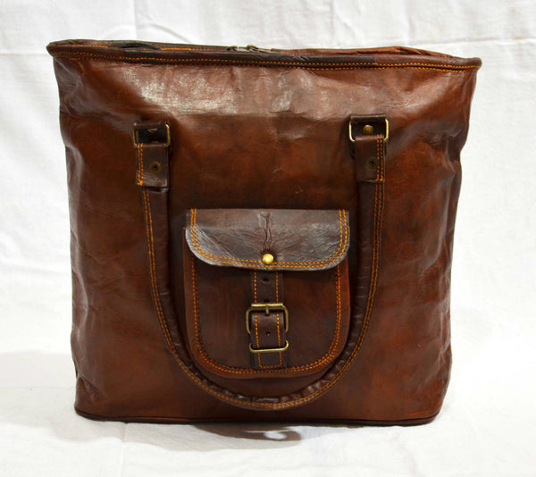 handmade vintage leather tote  bags