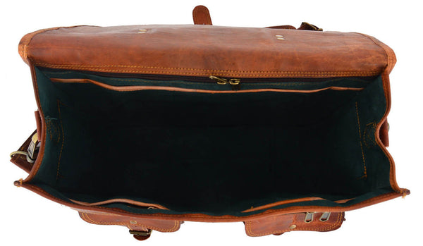 real leather laptop messenger bag