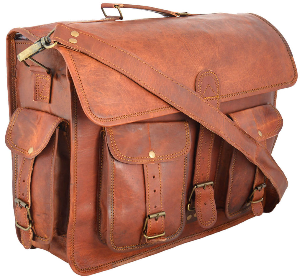 leather laptop and messenger bags