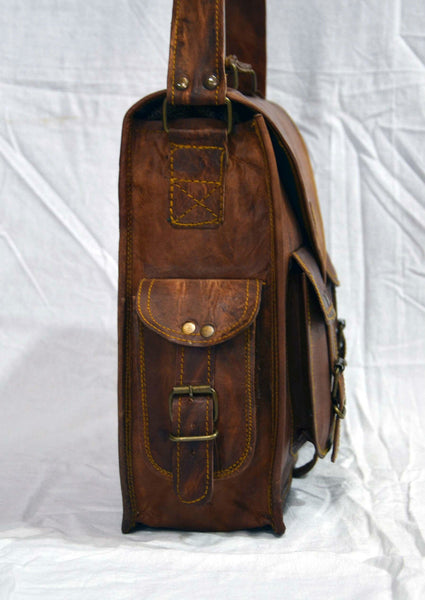 vintage leather laptop bag for men