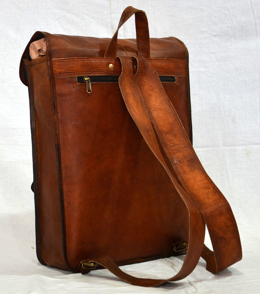 real leather handmade vintage rucksack