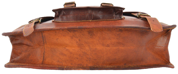 mens handmade laptop  satchel