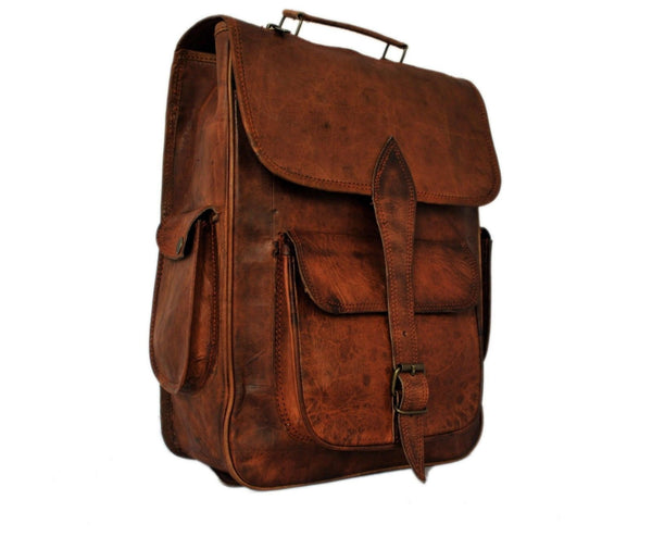 leather rucksack vintage leather