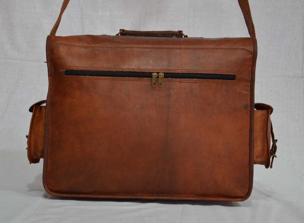 vintage leather satchels