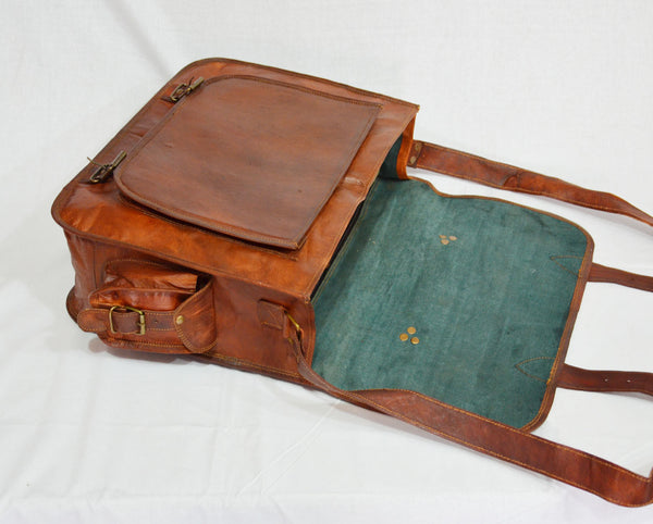 mens vintage leather satchel