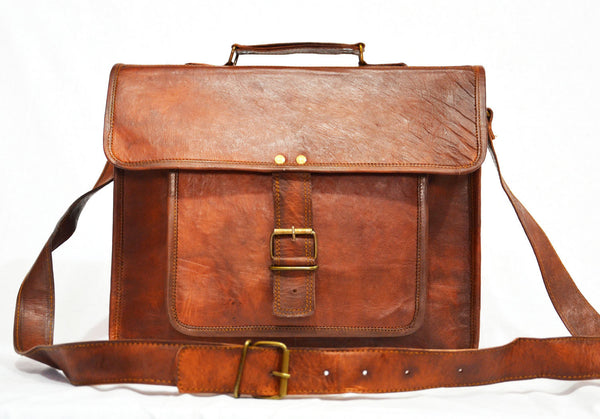handmade vintage leather satchels