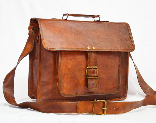 vintage leather satchels for men and for women
