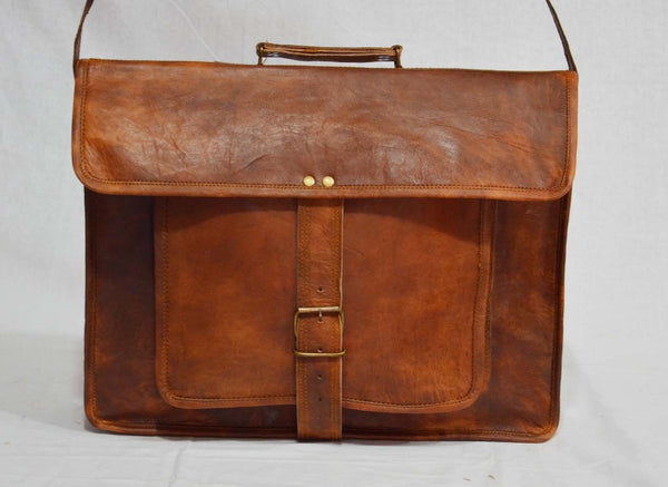 handmade vintage leather shoulder bag