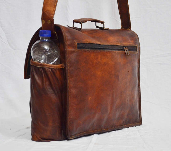 leather vintage laptop bag