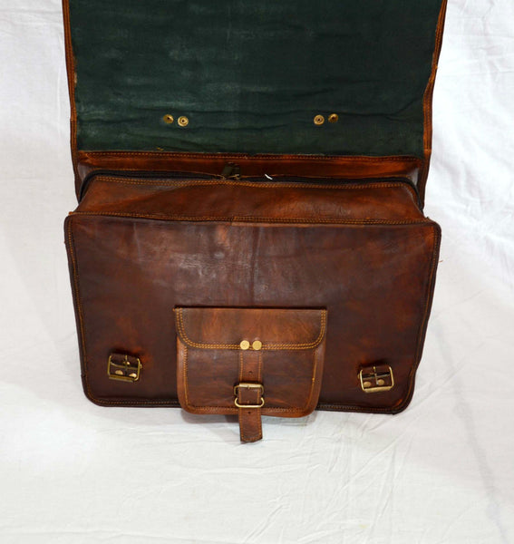 ladys  handmade vintage leather laptop  bag for women