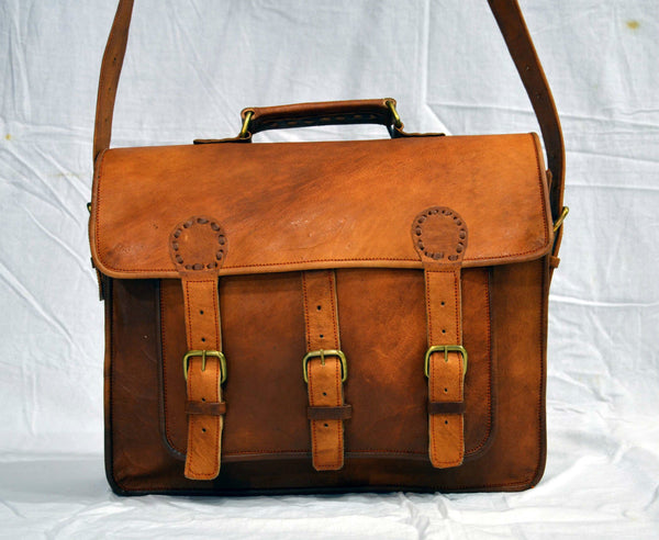 real  leather messenger bag for women