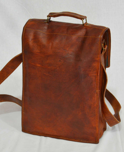 back of leather laptop briefcase