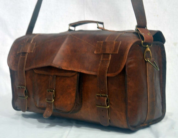 handmade leather travel bags