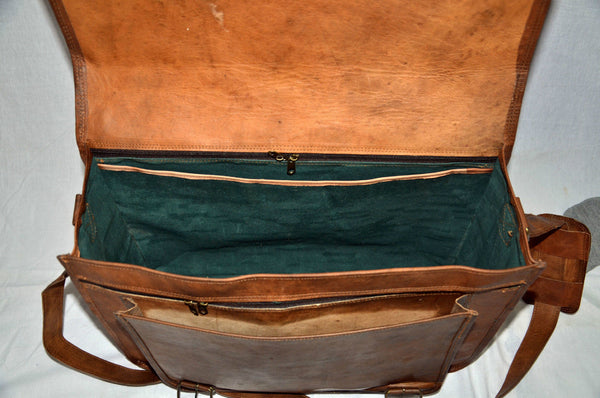 real  genuine vintage leather laptop  bags for men and women