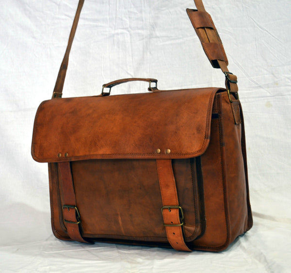 vintage  leather laptop bags for men and women