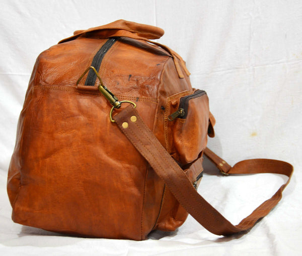 handmade leather luggage bags