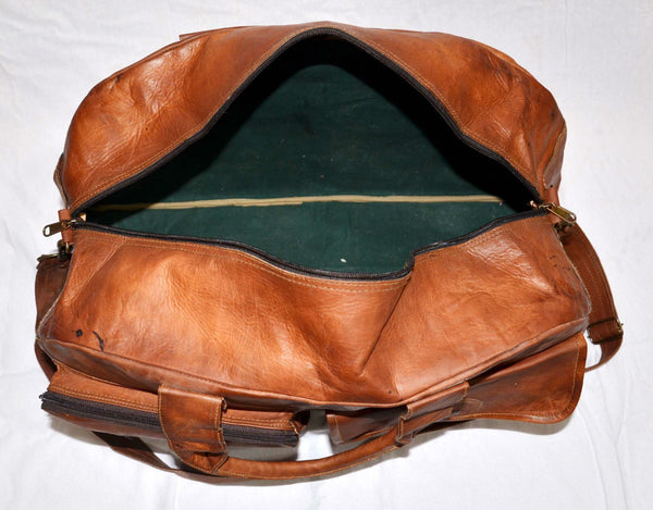 vintage leather overnight bags