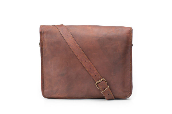 leather satchel  vintage leather