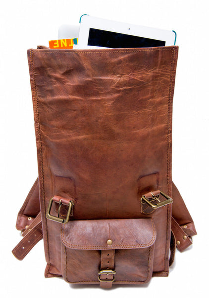 genuine leather rucksack