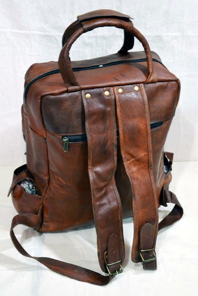 real  leather backpack