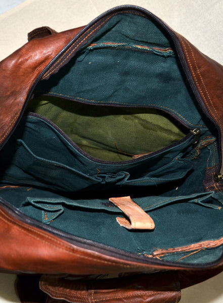 handmade genuine leather rucksack