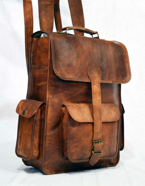 leather rucksack handmade