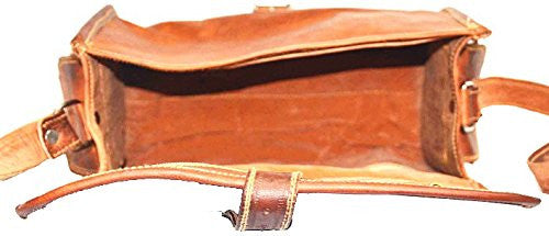 "Women's Vintage Leather Handmade Satchel Bag  9"" x 6""  x 5"""