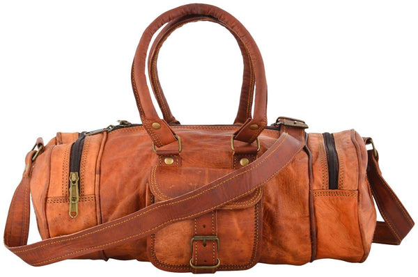 "Vintage Leather Travel Bag for Men and for Women. 25"" x 10"" x 10"""